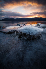 Ice Cap (pidalaphoto) Tags: winter newyork mountains ice sunrise river morninglight hudsonriver hudsonvalley hudsonhighlands zeiss15mm plumpointpark newwindsorny kowaweseuniqueareaatplumpoint