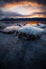 Ice Cap (bpdesign24) Tags: winter newyork mountains ice sunrise river morninglight hudsonriver hudsonvalley hudsonhighlands zeiss15mm plumpointpark newwindsorny kowaweseuniqueareaatplumpoint
