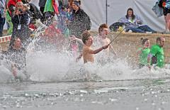 Recording The Big Splash (jrussell.1916 (off line until mid September)) Tags: winter ice lakes kansascity kansas specialolympics shawneemissionpark polarplunge splashes canon400mmf56lusm selfiestick
