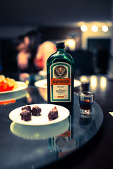 Warm up your tummy... (thatkatmat22) Tags: winter party art bokeh sigma liquor german booze shotglass tarts jagermeister sigma35mm
