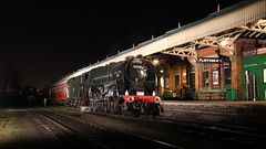 Last train to Bournemouth (Duck 1966) Tags: station train locomotive loughborough eveningstar gcr pinesexpress 9f 92220 92214 timelineevents