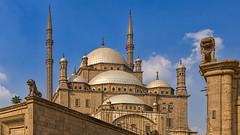 Mosque of Muhammad Ali, Cairo, Egypt (bfryxell) Tags: statue minaret lion egypt cairo alabastermosque mosqueofmuhammadali citadelofsaladin