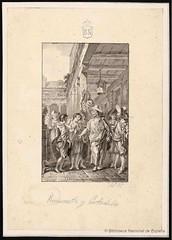 Rinconete y Cortadillo (Biblioteca Nacional de Espaa) Tags: y dibujos cervantes paret literatura alczar novelas ejemplares 400cervantes