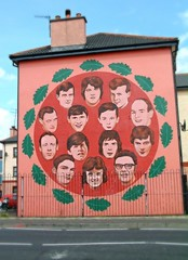 The Faces of Innocence - Mural depicting those who were Murdered on Bloody Sunday (seanfderry-studenna) Tags: ireland irish army political free murals police flags h hunger national bogside blocks republican nationalist monuments liberation basque strikes tricolour cultural derry guildhall psni doire paramilitaries brnadywell