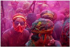 masked (Soumya Bandyopadhyay) Tags: colors festival holi barsana mathura vrindavan canoneos5d braj gulal nandgaon canon24105mmlis lathmarholi
