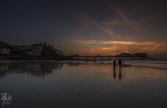 Waiting (Karl Ruston) Tags: ocean bridge sunset sky lake reflection beach water architecture clouds landscape evening coast pier seaside outdoor shore late cromer
