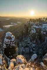 Cold Sunrise (m_daniel_90) Tags: schnee winter beautiful sunrise canon germany landscape deutschland eos frost saxony sachsen kalt landschaft sonnenaufgang elbe bastei schsischeschweiz rathen elbsandsteingebirge kurortrathen basteibrcke landschaftsfotografie 760d canoneos760d
