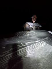 Night Snow. (*Valentina.) Tags: winter italy snow night landscape italia details january neve crucifix sledding chalet dettagli inverno notte paesaggio gennaio baita crocefisso trentinoaltoadige vallesannicol sllittino
