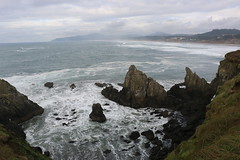View From Yaquina Lighthouse, Yaquina Bay, Newport, Highway 101, Lincoln County, Oregon, 2015 (travfotos) Tags: oregon newport oregoncoast ushighway101 yaquinabay lincolncounty