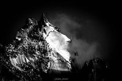 Glacier d'en Haut (Frdric Fossard) Tags: art montagne noir lumire altitude ombre contraste nuage chamonix cime clart abstrait surraliste luminosit aiguilleduplan massifdumontblanc