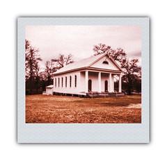 "Spann Methodist Church ""Instant Spectra"" (RandomConnections) Tags: church cemetery southcarolina ward methodist spannmethodistchurch"