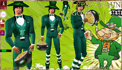 Leprechaun Outfit (Zed Sensations) Tags: new irish holiday male adam saint st cane club project fun gold costume outfit day mesh omega formal suit pot fantasy mens casual latest patricks sensations zed physique leprechaun roleplay sking slink amanzing adammesh