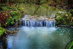 HDR waterfall (Jani pritchard) Tags: nature water landscape waterfall saturation hdr nymans