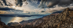 Jugo (TranceVelebit) Tags: sea panorama mountains weather clouds islands view croatia limestone karst pag adriatic jugo karlobag velebit dinaricalps velebitchannel