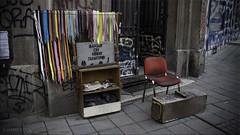 The Shoe Shine Shop (Hans Kool) Tags: street city shop work shoe chair shine serbia tito belgrade job stoel shining stad balkan belgrado veter veters jugoslavija servie streetjob rawstreet joegoslavi
