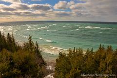 Lake Michigan ... Peterson Park view (Ken Scott) Tags: winter usa view michigan bluesky lakemichigan greatlakes breakers february hdr freshwater voted leelanau 2016 45thparallel petersonpark sbdnl sleepingbeardunenationallakeshore mostbeautifulplaceinamerica