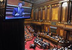 L'aula del Senato durante l'intervento del Presidente Renzi (Palazzochigi) Tags: palazzo senato consiglioeuropeo madama matteorenzi