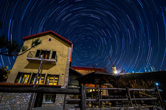 5 Billion Star Hotel (G.Tzevelekos) Tags: mountain night stars nikon nightscape greece startrail parnitha