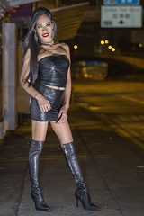 skin tight feels good (sexy kutinghk) Tags: leather fetish sexy boots thigh over knee heels