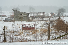 Yankee Farmlands  53 (J. G. Coleman Photography) Tags: winter snow storm building barn rural forest fence outside outdoors countryside farm connecticut country snowstorm newengland farmland pasture snowing wintertime pastoral simsbury bucolic pastureland nutmegstate southernnewengland