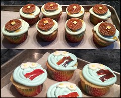 waffles and bacon and eggs cupcakes by Sherman, Santa Cruz, CA www.birthdaycakes4free.com