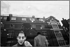 . (Balthus Van Tassel) Tags: street uk london glass girl face soho fork meal ricohgr
