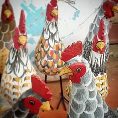 Curtindo a manhã com a galera... #galinha  #decoração #decorar #decoracao #galinhas #galo #artesanatomineiro #artesanato #artesanal #artesanatobrasil #minasgerais (fabriciabarcelos) Tags: minasgerais galinha artesanato artesanal decoração galo decoracao galinhas decorar artesanatomineiro artesanatobrasil