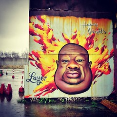 A real #HeavyWeight, by #Lazer - #Antwerp #Belgium #streetart #graffiti #streetart_daily #streetartbel