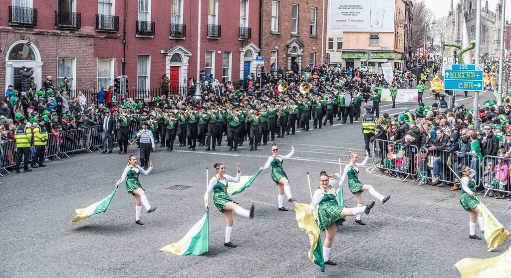 John F. Kennedy High School (Shamrock Regiment), California [St. Patrick's Parade 2016]-112644