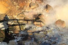 Keeping a safe distance (holger.torp) Tags: hot surreal steam springs reykjanes hver krsuvk seltn hverasvi