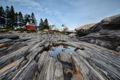 Pemaquid Lighthouse (sarah_presh) Tags: usa lighthouse holiday reflection rocks maine september pemaquid eastcoast pemaquidpoint pemaquidlighthouse