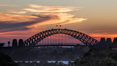 Sydney Harbour Bridge Sunset 2 (RoosterMan64) Tags: sunset clouds australia nsw tarongazoo sydneyharbourbridge