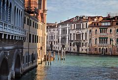 Around the corner (VillaRhapsody) Tags: venice winter italy water colors buildings boats canal venezia venedig citytrip reflecitons mooringpoles