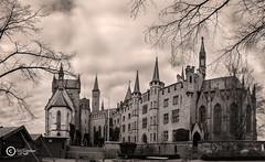 Castle (sirixception) Tags: castle sepia clouds germany deutschland wolken burg duitsland kasteel hechingen zollern burghohenzollern bisingen zollernberg swabischealb thehohenzollerncastle