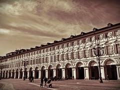 Piazza San Carlo - Torino  (Explore) (Arnzazu Vel) Tags: plaza city italy sepia architecture square torino arquitectura italia ciudad explore piazza turin architettura piazzasancarlo