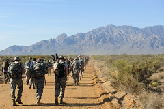 160320-F-GE514-332 (Official U.S. Air Force) Tags: newmexico army memorial wwii soldiers match marines airforce fitness marinecorps joint morale bataan 2016 airmen whitesandsmissilerange ruckmarch bataanmemorialdeathmarch militaryhealth totalforce