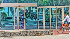 Bicy.. .Reflexes (Barbara Bonanno BNNRRB) Tags: street mirror calle strada riflessi specchio bicicletta reflexes bicy