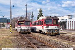 913.022-0 + 913.004-8 | tra 128 | Turzovka | Slovensko (jirka.zapalka) Tags: train spring os slovensko slovakia stanice turzovka tratsk128 rada813913