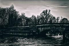 The bridge (u.giommetti) Tags: autumn sky blackandwhite italy river europa europe italia fiume ponte cielo autunno biancoenero lodi bridg lodigiano