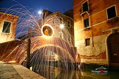 Venezia-nottuno (improntediluce15) Tags: street bridge shadow moon streetart art wool night steel fiume luna ponte story spinning effect venezia brescia notte scintille atmosfere