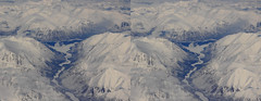 Eastern Siberia 3D, plate 1, cross-eye (Sergei Golyshev (is back)) Tags: winter snow mountains ice nature river circle airplane landscape photography 3d crosseye russia pair north canyon aerial arctic siberia polar eastern depth volume       stere       chersrskogo