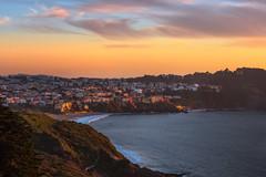 Sea Cliff (Laura Macky) Tags: sanfrancisco sunset landscape seacliff bayarea sunrisesunset presidio landsea nikond750