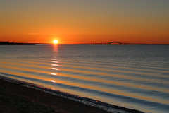 South Bay Sunrise (Bob90901) Tags: sky sun newyork color water sunrise canon dawn bay spring waves outdoor longisland filter lee april goldenhour 6d 2016 greatsouthbay lindenhurst neutraldensity gradnd graduatedneutraldensity venetianshores 09gradnd canonef2470mmf28liiusm cloudsstormssunsetssunrises rpg90901