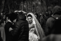 Just walking through the park and a wedding broke out... (8230This&That) Tags: nyc wedding blackandwhite bw ny newyork bride centralpark manhattan