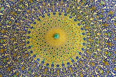 Imam mosque ceiling (dan & emily) Tags: islam prayer mosque esfahan shiite imammosque royalmosque masjideshah