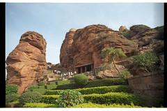 Badami Caves (WideAngleWandering) Tags: india karnataka badami canonf1 kodakektar100