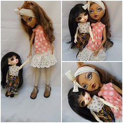 M hold my hand  ..C  im to tall lets cuddle  <3 (redlizzy2) Tags: 17 handmadeclothes 24cm hujoo clawdeen berrygirl monsterhigh