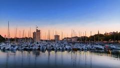 Calme et srnit / Calm and serenity (YS-Photography) Tags: france lune bateau ports coucherdesoleil publication paysagesmarins