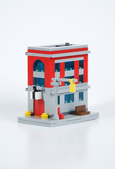 Ghostbusters Firehouse (kdangerw) Tags: house fire 1 lego ghost micro firehouse ghostbusters busters ecto moc afol ecto1 foitsop