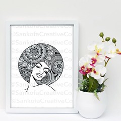 Afro Queen A4 art print | Available on etsy | Link in bio | #sankofacreativeco #handmade #africaninspired #jewellery #art #gifts #accessories #beadedbracelets #beadedjewellery #beadedjewelry #jewelry #artwork #africanart #africanprint #africanfabric #b (blackownedhair) Tags: black hair support marcus think philippines business owned be buy filipinos koreans garvey salons philipeno madali